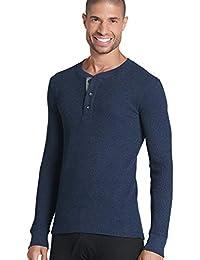 Men's T-Shirts Long Sleeve Waffle Henley