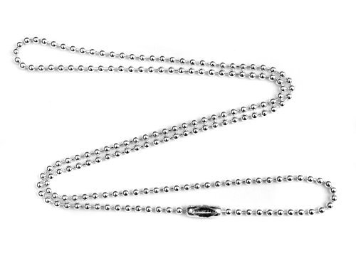 2mm Fine Sterling Silver Ball Chain Necklace - 40 inches