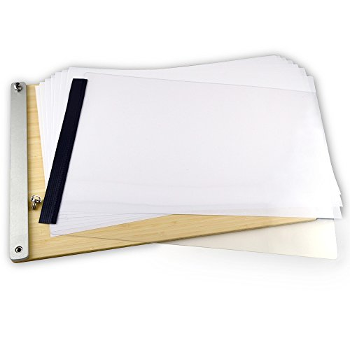 LuxBind Portfolios (Tabloid 11Wx17L) Bamboo clamp version by LUXBIND