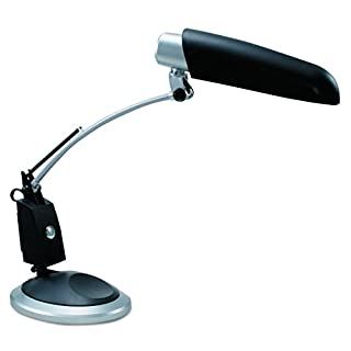 Ledu L9062 Ledu Full Spectrum Desk Lamp, Black with Sliver Accents