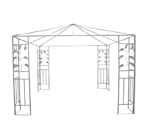 Outsunny 10' x 10' Steel Gazebo Frame - Leaf Design by Outsunny