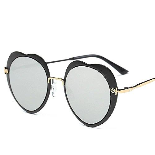 Aoligei Lunettes de soleil mode Dame Peach coeur forme soleil lunettes Europe et aux États-Unis de marée personnalité personnes centaines Ses CrZIQC97
