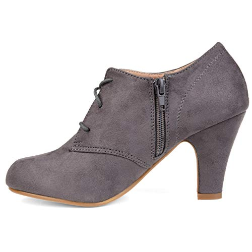 Booties Toe Round Grey up Vintage Womens Collection Journee Lace xTq60w