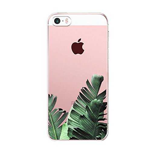 Price comparison product image iPhone SE ,Yimer Clear Case Case Scratch Resistant Thinnest Ultra Flexible Silicone Cover with TPU Bumper Slim Soft TPU Rubber for Apple iPhone 5/5S 4.0 inch (C)