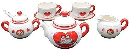 Raggedy Ann 5pc Ceramic Tea Set by Russ Berrie