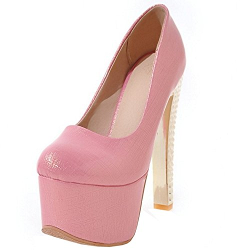 Stiletto Party 442 Platform On Taoffen Western Donna Scarpa Slip Rosa wPXIgZCq