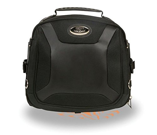 (MOTORCYCLE LARGE SPORTY STYLE PVC SISSY BAR BACK PACK BAG WITH GUN POCKET INSIDE)