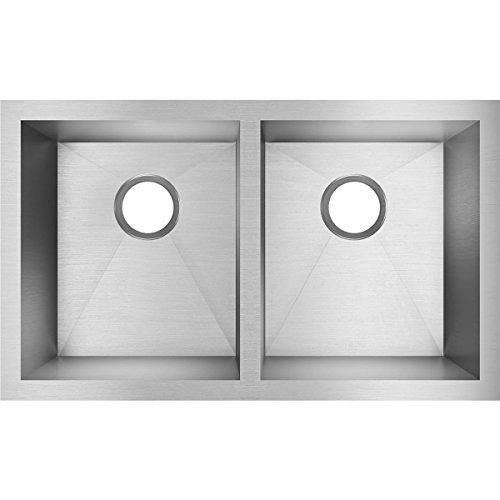 Elkay Avado Double Bowl (Elkay Crosstown EFU311810 Equal Double Bowl Undermount Stainless Steel Kitchen Sink)
