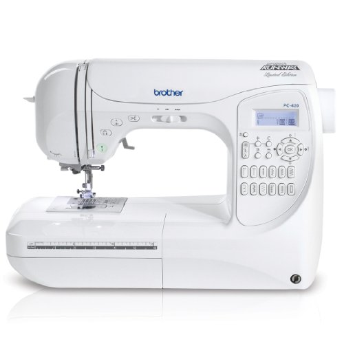 Brother Project Runway PC420PRW 294-Stitch Professional Grade Computerized Sewing Machine with 3 Built-In Lettering Styles, and Carrying Case (Case Bobbin Threading)