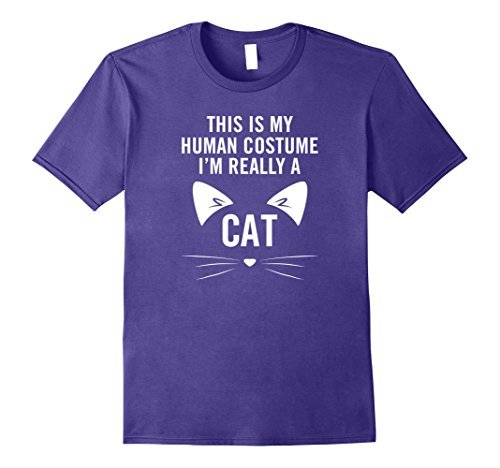 I'm Really A Cat Halloween costume pet funny kitten shirt