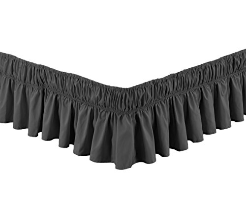 Fancy Collection Queen- King Easy Fit Bed Ruffle wrap Around