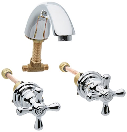 Elements of Design EB971X Hot Springs 8'' to 16'' Widespread Lavatory Faucet with Retail Pop-Up, 5-3/4'' in Spout Reach, Polished Chrome by Elements of Design
