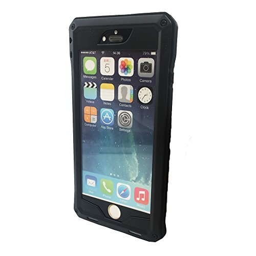 iPhone6 Plus Heavy Duty Protective Case , Shockproof Dustproof Aluminum Alloy Silica Gel Metal Tempered Glass Cover Case For iPhone 6 Plus 5.5