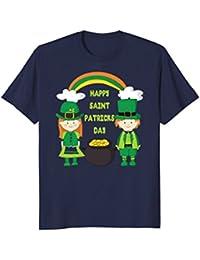 St. Patricks Day Funny Kids Shirt - Girl Boy Rainbow Gold