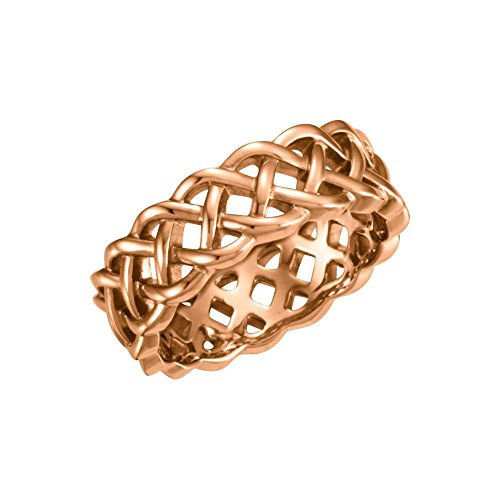 Beautiful Rose gold 14K Celtic-Inspired Band