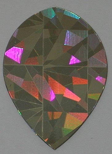Gold Cracked Sets Ice (US Darts - 1 Set (3 Flights) Gold Cracked ICE Holographic Pear Dart Flights)