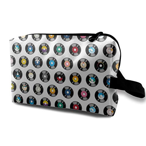 Cosmetic bag for purse,Stars On 45 Records Vinyl Retro 60s 70s 80s Music Dj Disco Rock And Roll Radio_916,Oxford cloth Colourful Bag Mini Travel