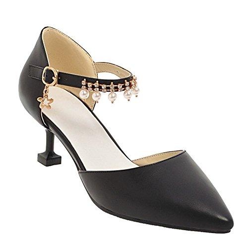 Cour Chaussures Charme Boucle Des Cheville À Bride De Femmes Chaussures La Noires La Mee De De HCqU1