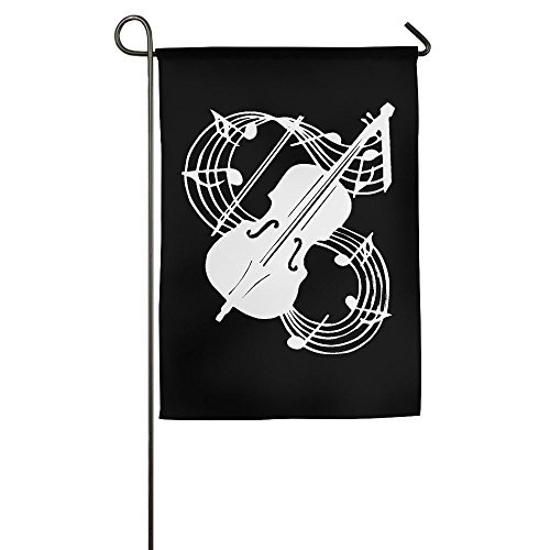 XIA&FLAG Garden Flag Musical Note - Violin Colorful Translucent Polyester Flag (This Is Halloween Violin Notes)