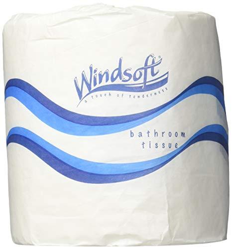 Windsoft 2240 Single Roll Two Ply Premium Bath Tissue, 500 Sheets Per Roll (Case of 96 Rolls) (PAPER TISSUE, 1 BOX)