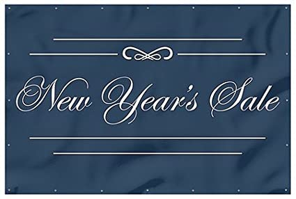 cgsignlab new years sale classic navy heavy duty outdoor vinyl