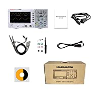 Hanmatek DOS1102 Digital oscilloscope with 2 Channels and Screen 7 inch / 18 cm, TFT-LCD Display, Portable Professional Oscilloscope Kit with 110mhz Bandwidth 1GS/s Sampling Rate