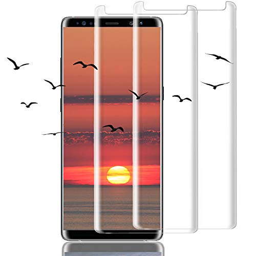 [2Pack] Galaxy Note 8 Screen Protector, 3D Full Screen Coverage Glass [Curved] [Bubble-Free] [9H Hardness] [Anti-Scratch] Clear Galaxy Note 8 Tempered Glass Screen Protectors for Samsung Galaxy Note 8 by AsianiCandy