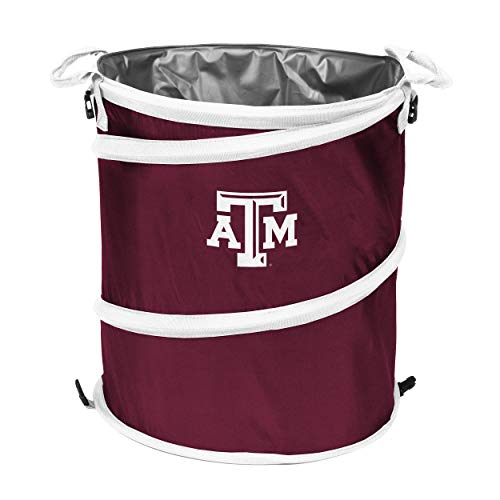 (NCAA Texas A&M Aggies Adult Collapsible 3-in-1 Trash Can,)