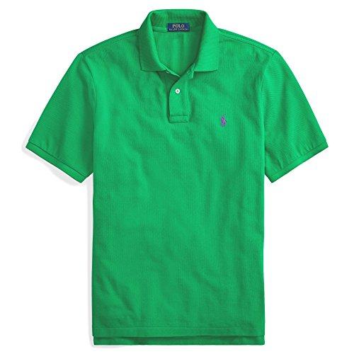 - Polo Ralph Lauren Men Custom Fit Mesh Pony Logo Shirt (XL, StemGreen)