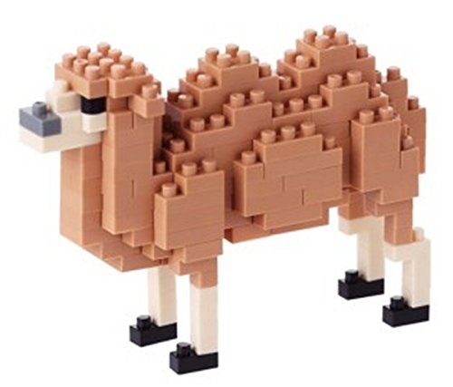 Camel Miniature - Kawada NanoBlock - NBC-139 - Bactrian Camel Micro Block Miniature Collection Puzzle (160 Piece)