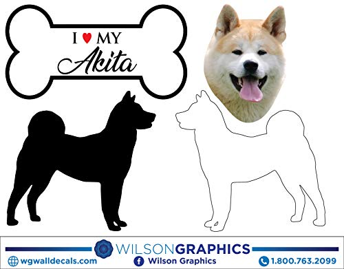 - Akita - Dog Breed Decals (Set of 16) - Sizes in Description