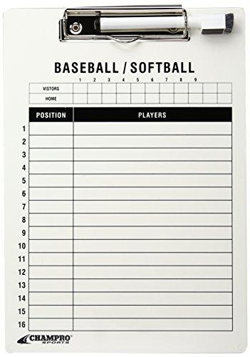 (Champro Baseball/Softball Board (White, 12 x 9-Inch))