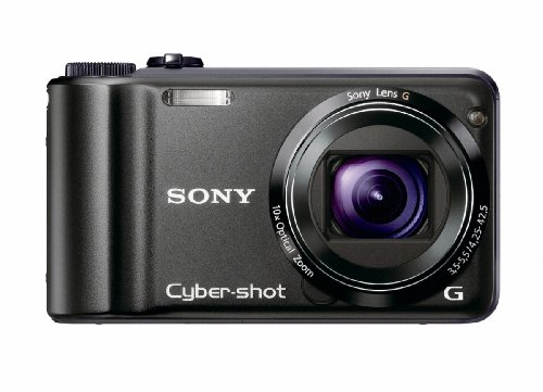 Sony Cyber-shot DSC-H55 14.1MP Digital Camera with 10x Wide