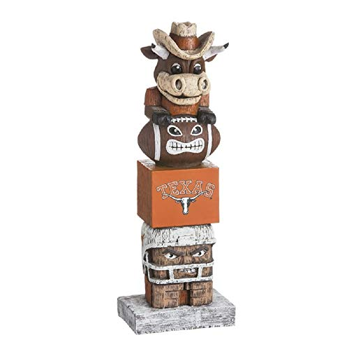 (Evergreen NCAA Texas Longhorns Tiki Totem, Team Colors, One Size)