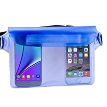 Waterproof Pouch, iThrough Ultra Universal Waterproof Pouch, Waterproof Case with Touch Responsive Transparent Screen Protector for iPhone 6/6 Plus/5/5s/5c/4/4s/Samsung Galaxy S3/S4/S5/Note 2/3/4