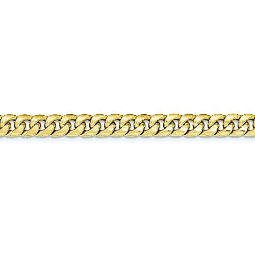 "14 carats chaîne Miami Cuban Bracelet creux - 7 ""- JewelryWeb"