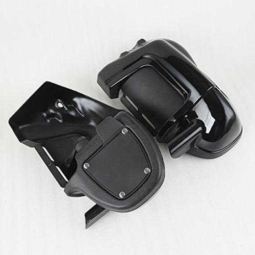 XMT-MOTO Black Lower Vented Leg Fairings Cap Glove Box For Harley-Davidson Touring Models 1983-2013 by XMT-MOTO (Image #3)