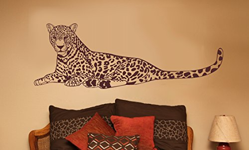 - Wall Decor Plus More WDPM3111 Large Cheetah Jungle Animal Wall Decal Vinyl Sticker, 20x58-Inch, Chocolate Brown