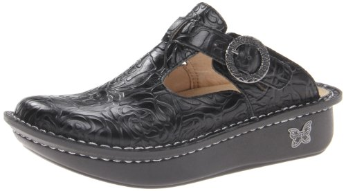 Alegria Women's Classic Clog,Black Emboss Rose,36 EU/6-6.5 M US Embossed Print Clogs