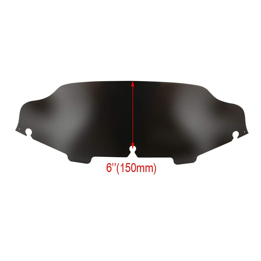 8 4.5 5 6 7 8 9 Motorcycle Wave Windshield Windscreen Fit For Harley Electra Street Glide Touring Bike Black