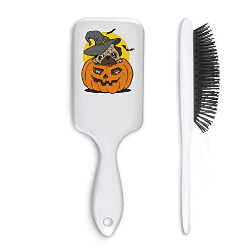 Chal Hoiy Boar Bristle Paddle Hairbrush pugs dog halloween pumpkin Cushion Hair Brush for Straightening, Styling & Drying, Designed for Women Men Kids Girls