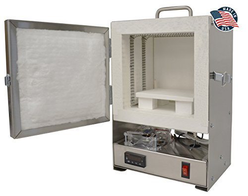 Rapidfire Pro Electric Kiln W/digital Controller for PMC Jewelry Making, Beadmaking (Metal Clay Firing)