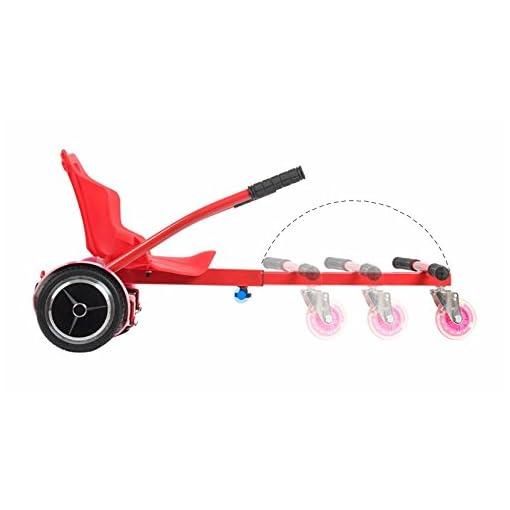 Siège de hoverboard de qualité supérieure – Taille au choix – Noir ou rouge