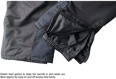 Acme Projects Insulated Snow Pants for Skiing, Snowboarding, Outdoor, 100% Waterproof, Breathable, Taped Seam, 10000mm/3000gm