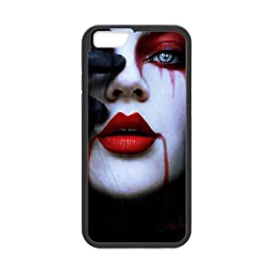 Vampire Series,iPhone 6 Case,Vampire Bloody Face Phone Case For iPhone 6[Black]