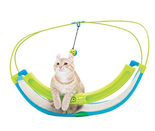 Luxury 2 In 1 Cat Toy Pet Exercise Cradle Cat Bed Sofa with Ball Toys Hammock Toy for Cat Animals Pet Product - Card Replacement Boots Advantage