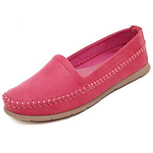 de SmilunWbfj002 Zapatillas Rojo casa Mujer cSpYTRfq