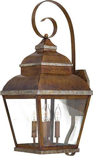 Minka Lavery Outdoor Wall Light 8267-161 Mossoro Exterior Wall Lantern, 160 Watts, Bronze