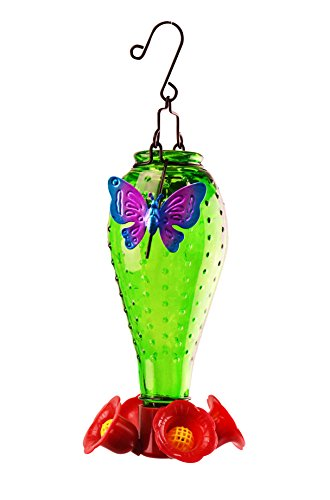 Red Carpet Studios 41211 Hummingbird Feeder Green Butterfly Butterfly Hummingbird Feeder