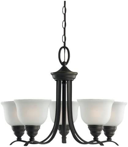 Sea Gull Lighting 31626-782 Wheaton Five Light Chandelier Hanging Modern Fixture, Heirloom Bronze